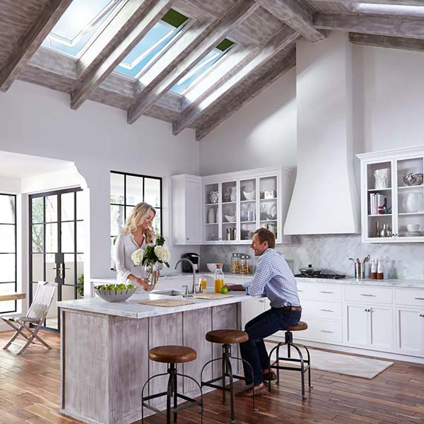 Click to learn more about Velux skylights.