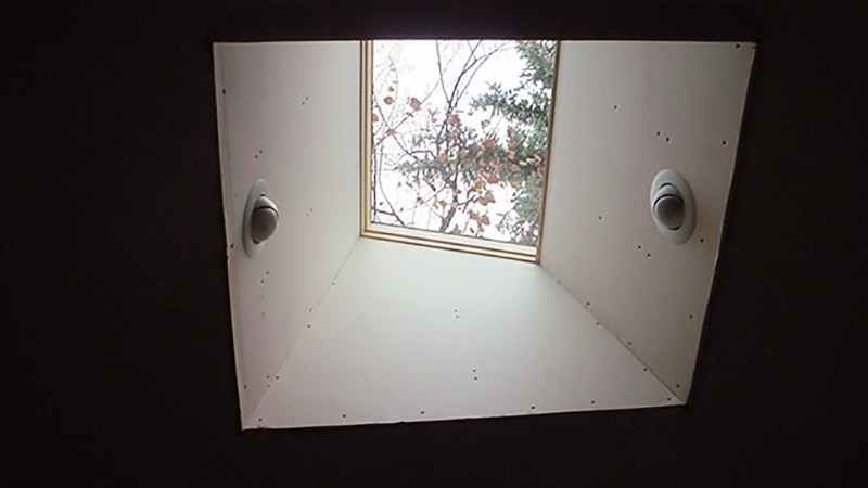 skylight shaft flat ceiling