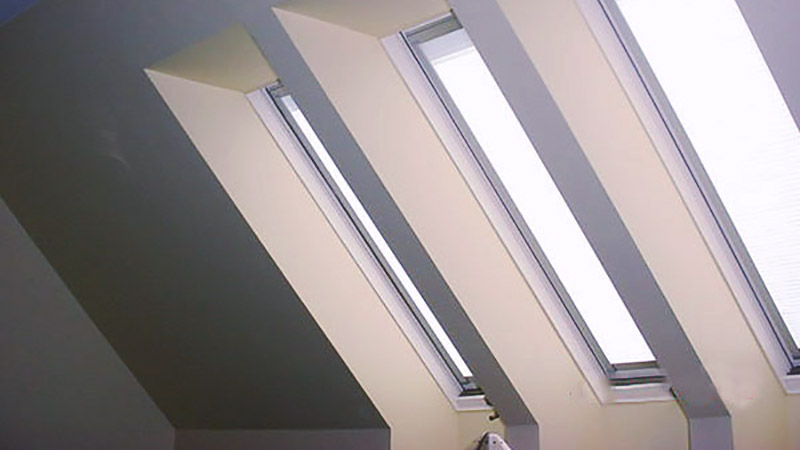 skylight shaft vaulted ceiling