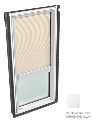 Velux FCM skylight with blinds
