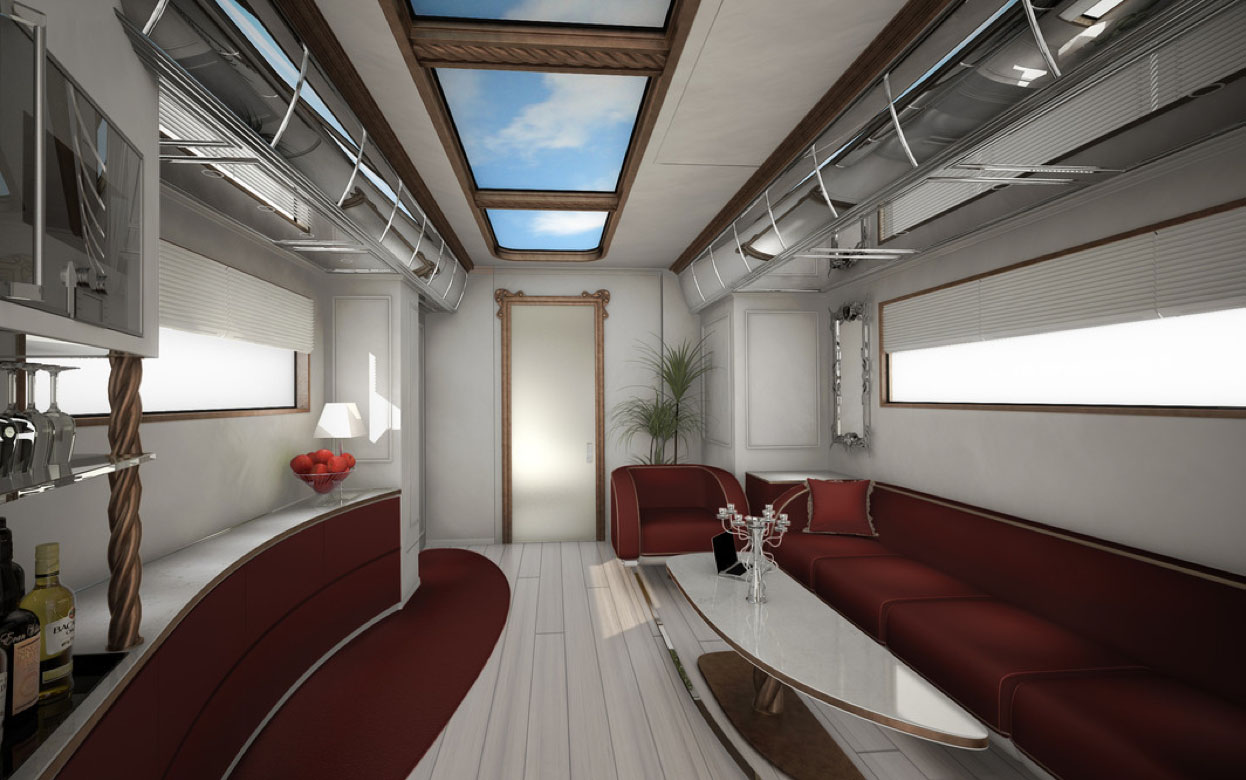 awesome rv interior skylight design
