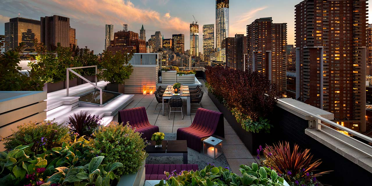 Beautiful rooftop garden