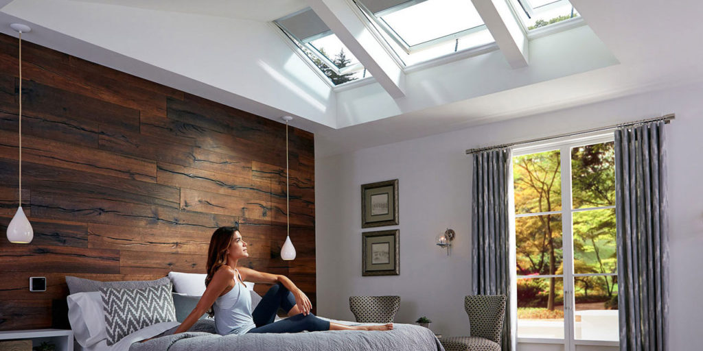 Venting skylights over bed
