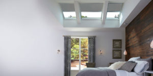 Velux wooden wall bedroom reversed