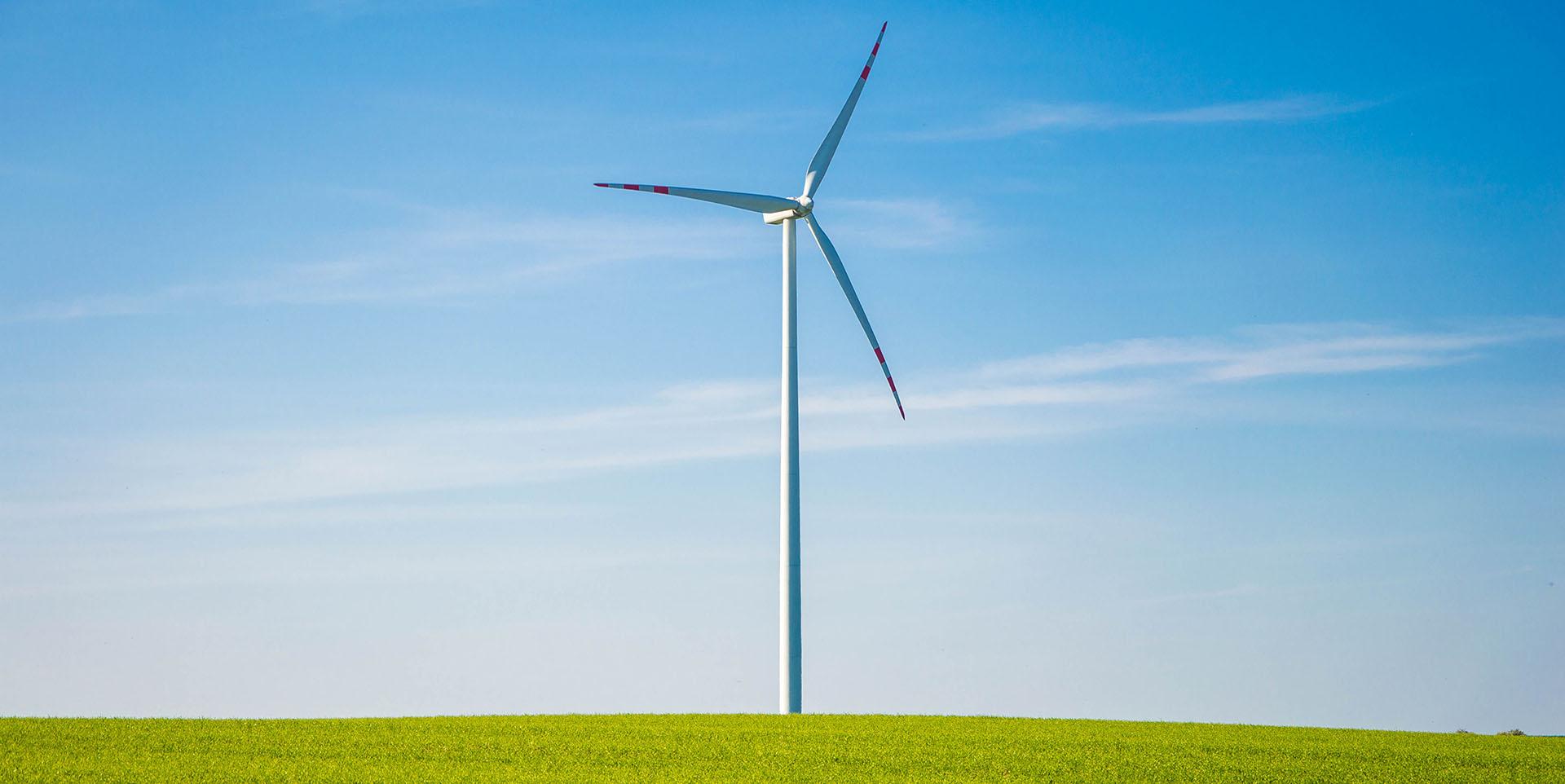 windmill in a grassy field