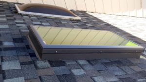 acrylic skylight to glass