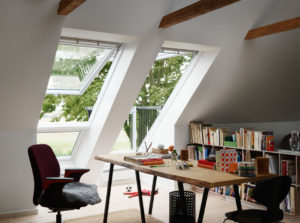 Enjoy fresh air and daylight in your home office.