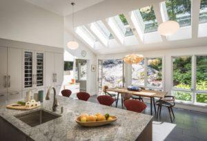 Skylight in a Dining Room