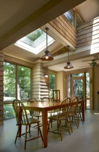 Skylight in a Dining Room