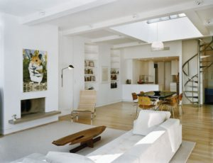 Skylight in a Living Room