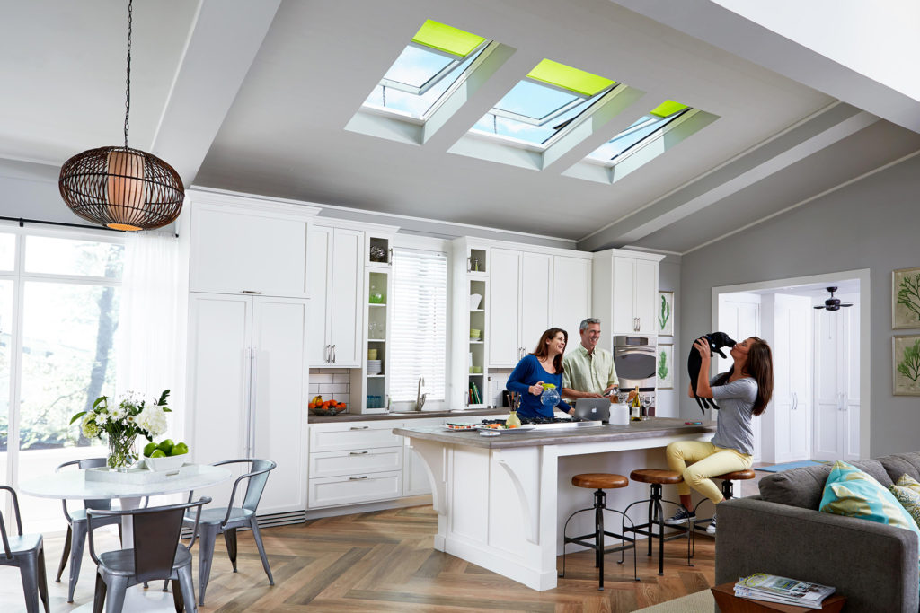 Enjoy venting skylights in your kitchen and help remove foul smells.