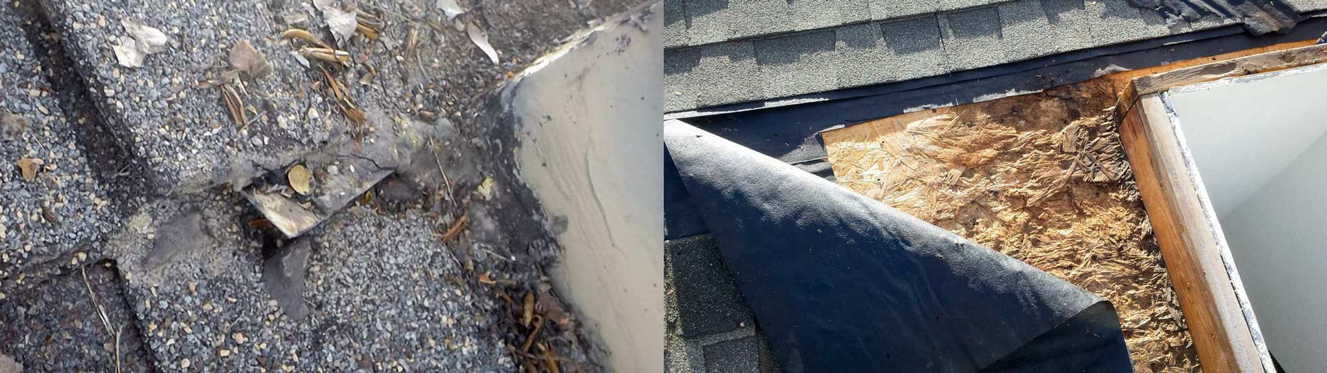 leak flashing before-after