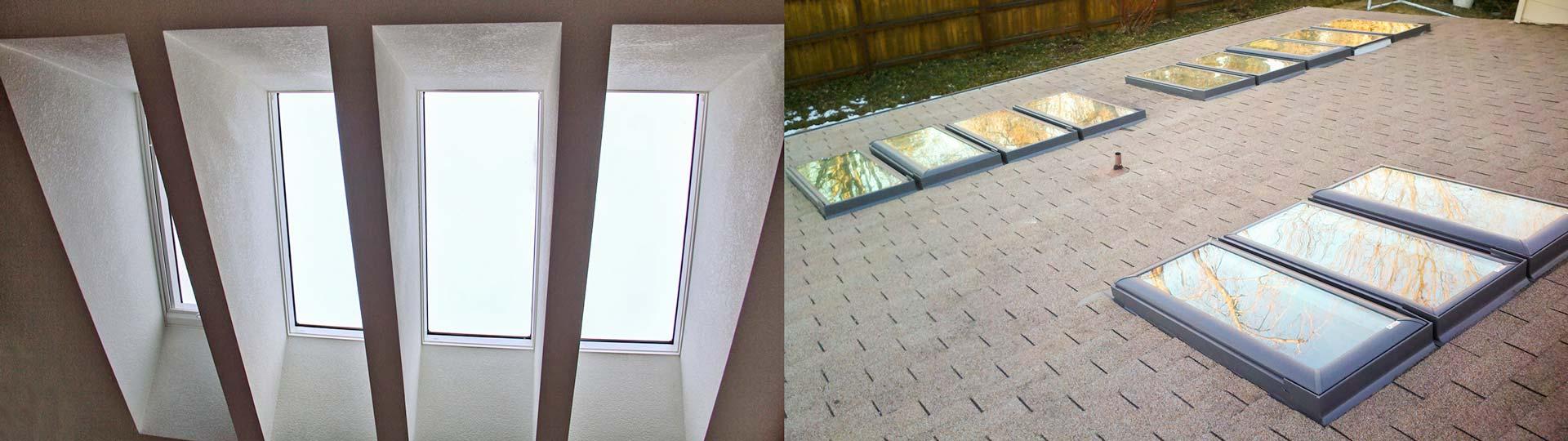 skylight shaft 4x1 wrapped 18240