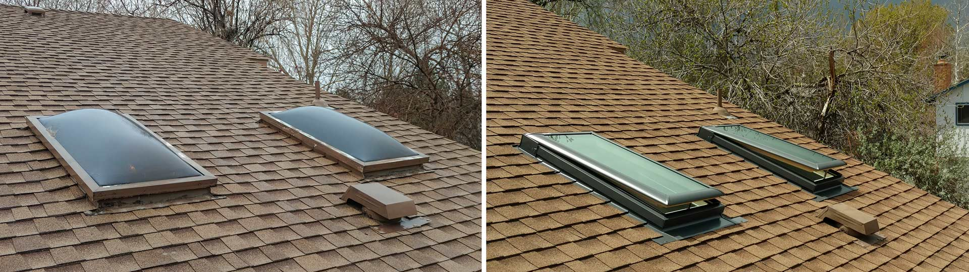 replace venting dome skylight header