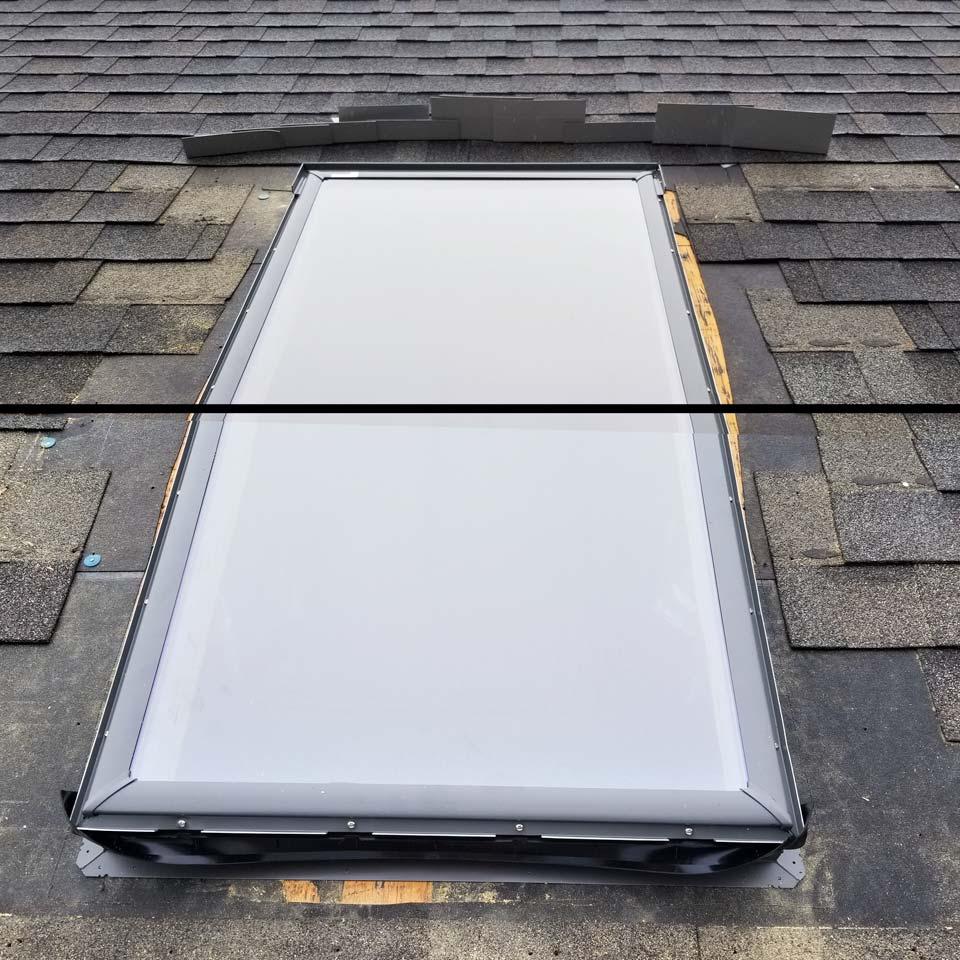 Velux deck mount skylight 29731-comp