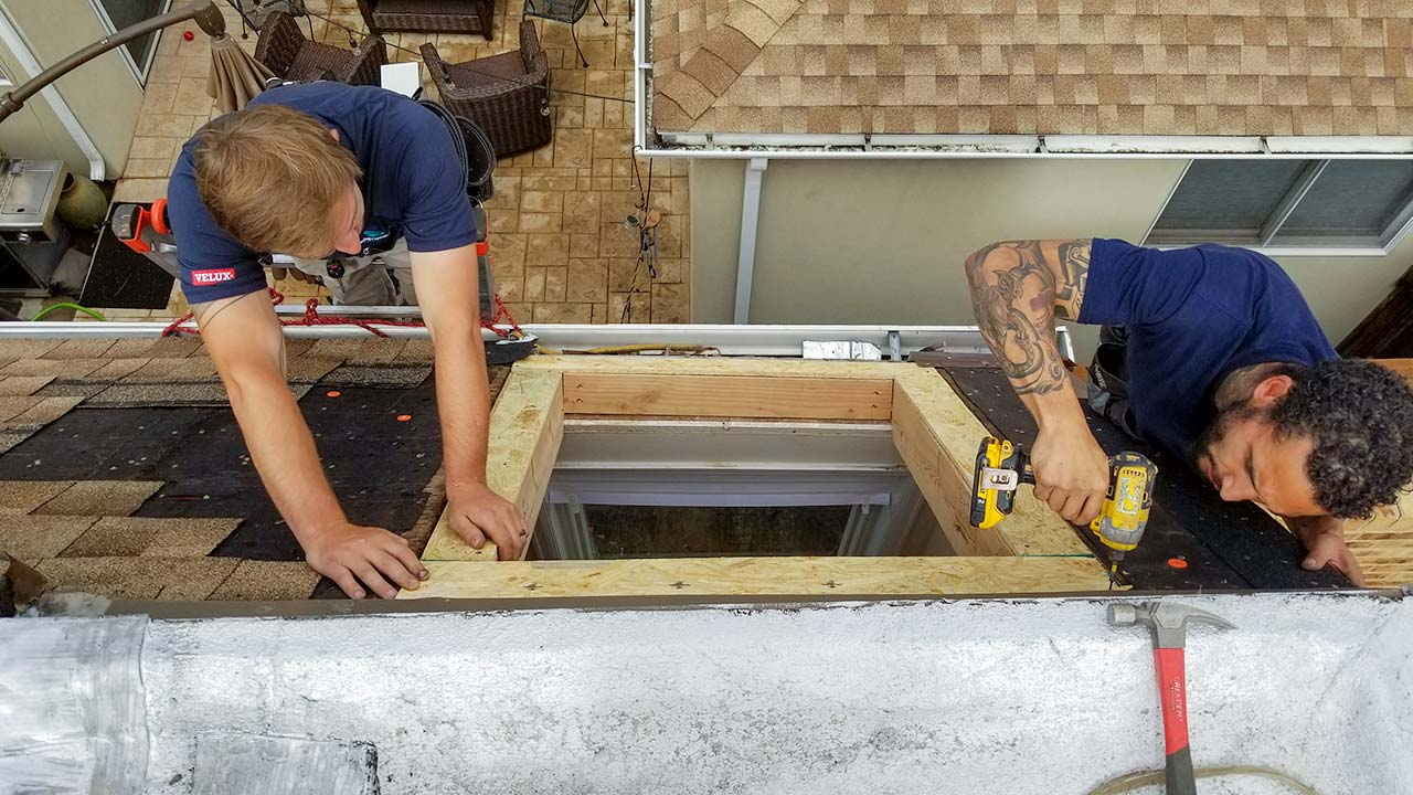 Velux deck mount skylight-6497-132451