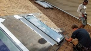 Velux deck mounted skylight installation 29891-162520