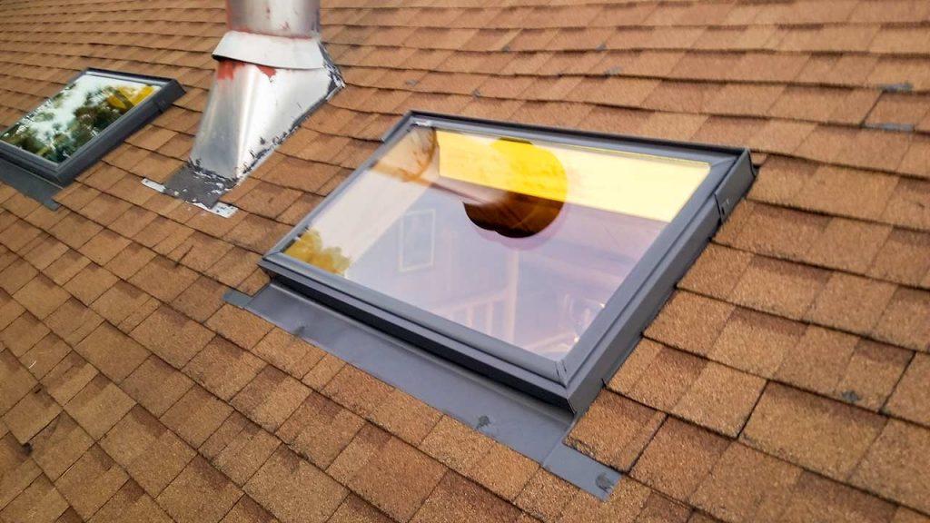 install skylights log cabin 29749-171124