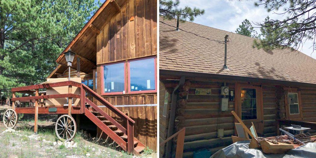 install skylights log cabin 29749-2