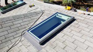 new installation Velux FCM skylight 26700-143609