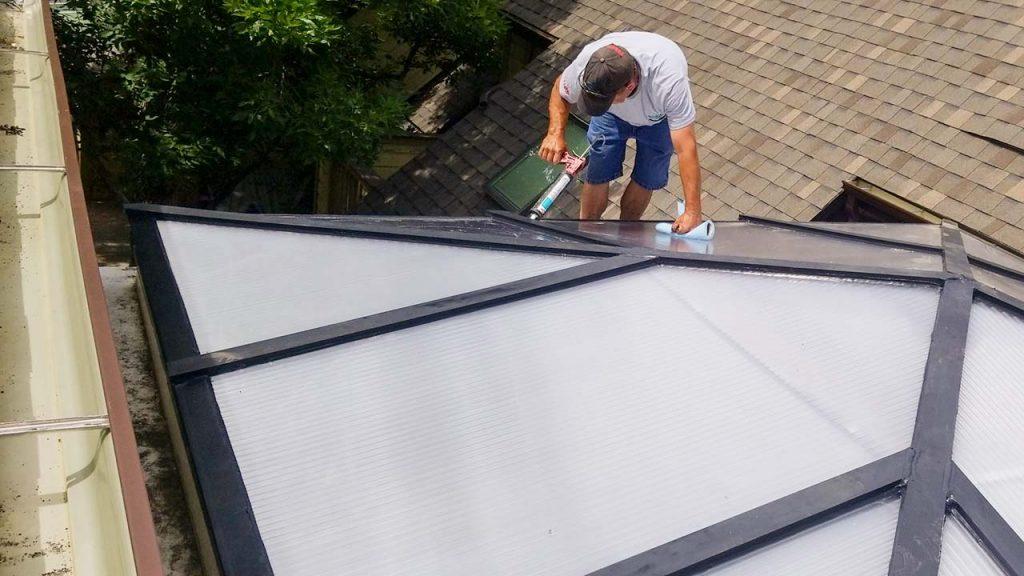 reglaze acrylic pyramid skylight 30654-5