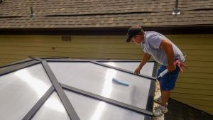 reglaze acrylic pyramid skylight 30654-7
