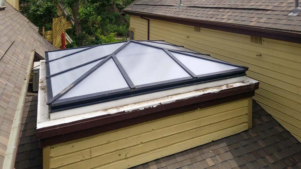 reglaze acrylic pyramid skylight 30654-8