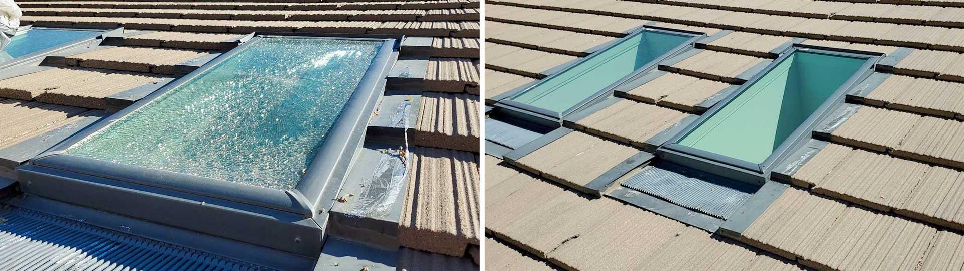 skylight glass replacement 19328 header