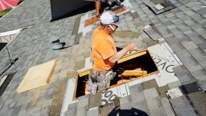 install Velux manual venting skylight 29397-7