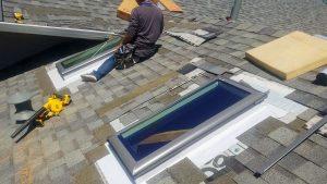 install Velux manual venting skylight 29397-8