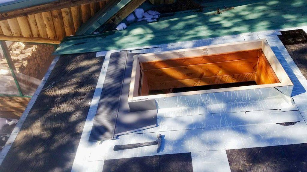 Frisco log home skylight replacement 31589-14