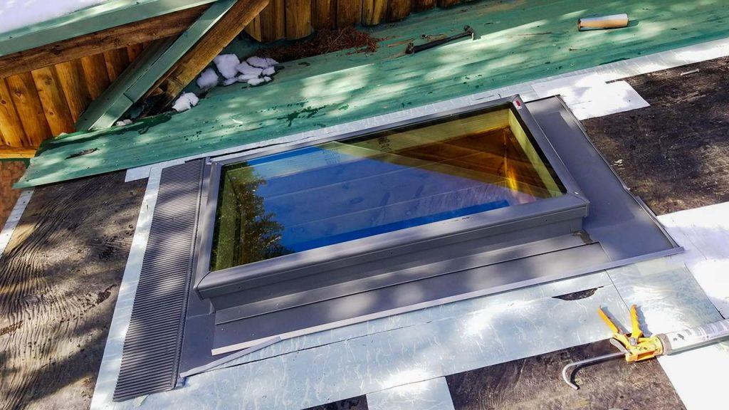 Frisco log home skylight replacement 31589-16