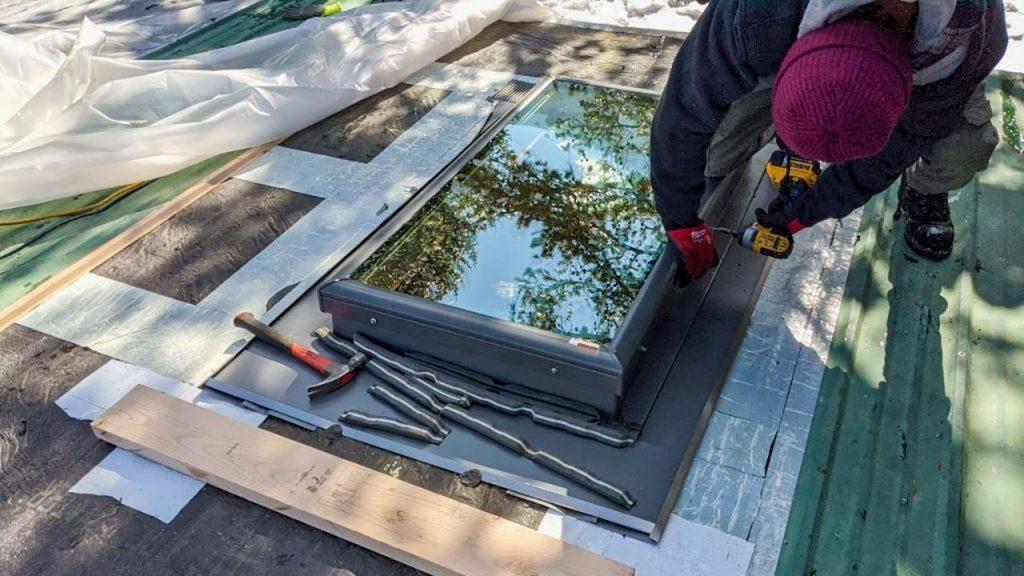 Frisco log home skylight replacement 31589-17