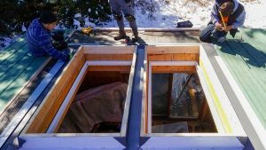Frisco log home skylight replacement 31589-28