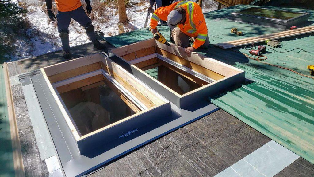 Frisco log home skylight replacement 31589-30