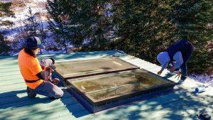 Frisco log home skylight replacement 31589-31
