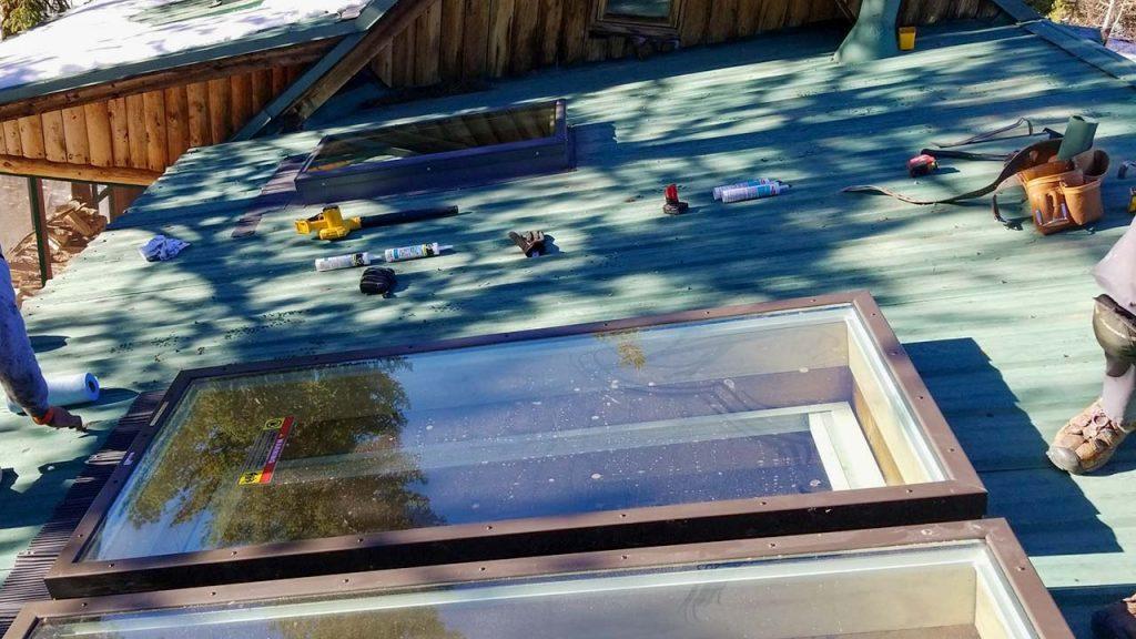 Frisco log home skylight replacement 31589-32
