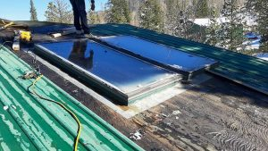 Frisco log home skylight replacement 31589-9
