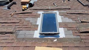 new install Velux FS C06 skylight 8