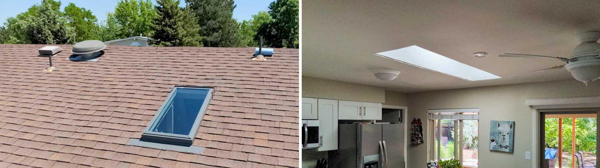 new install Velux FS C06 skylight header